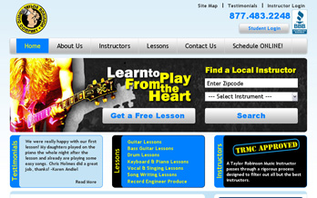 Taylor Robinson Music Joomla Web Design Screenshot