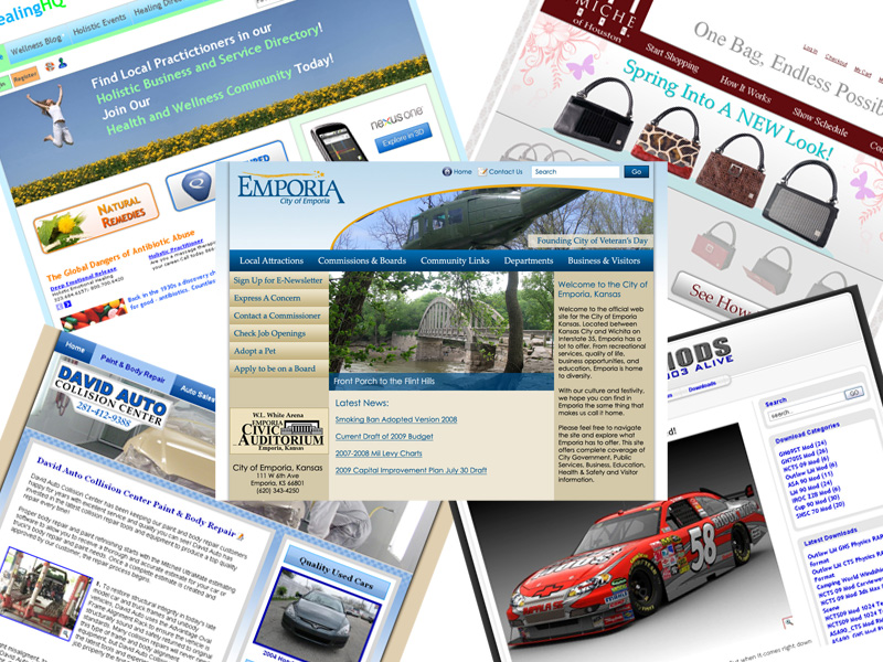... you have several template choices when creating a new website or