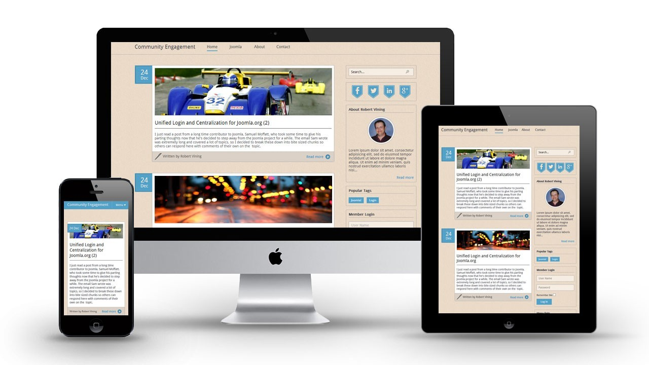 Responsive Template Design Built on Joomla 3